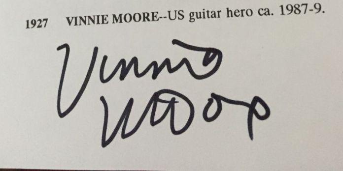 Vinnie Moore in the Book