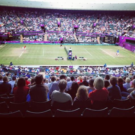 Center court at Wimbledon, London 2012 Olympics