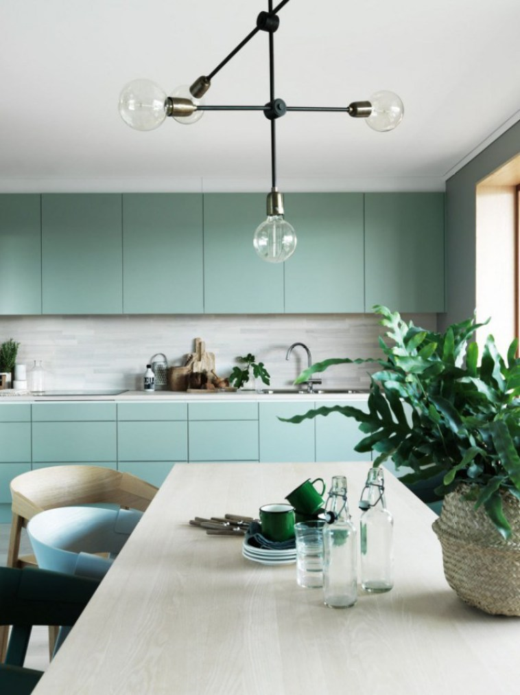 green kitchen inspiration. unknown image source