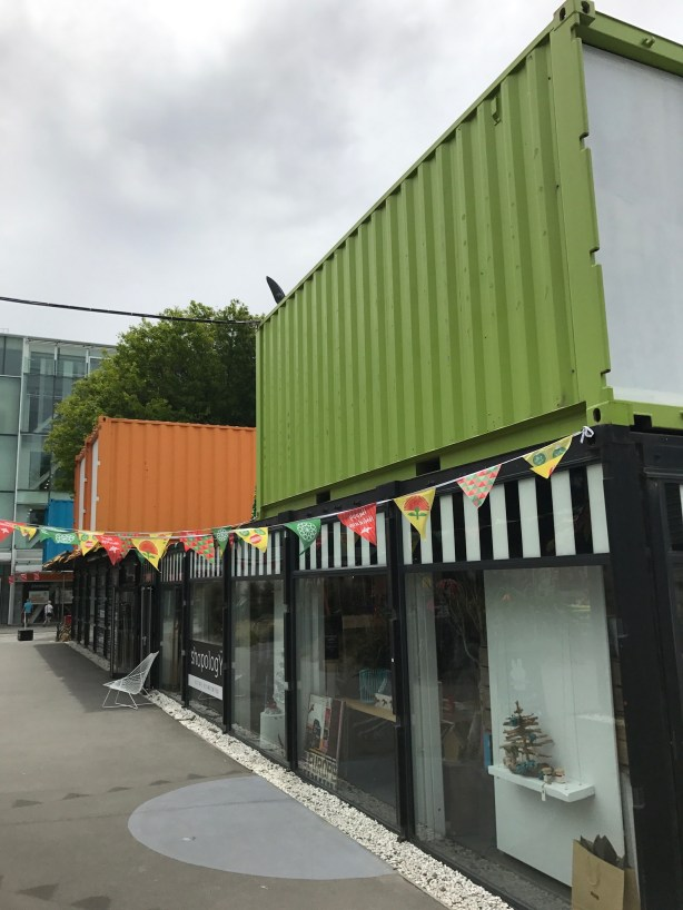 Christchurch container ship shopping centre