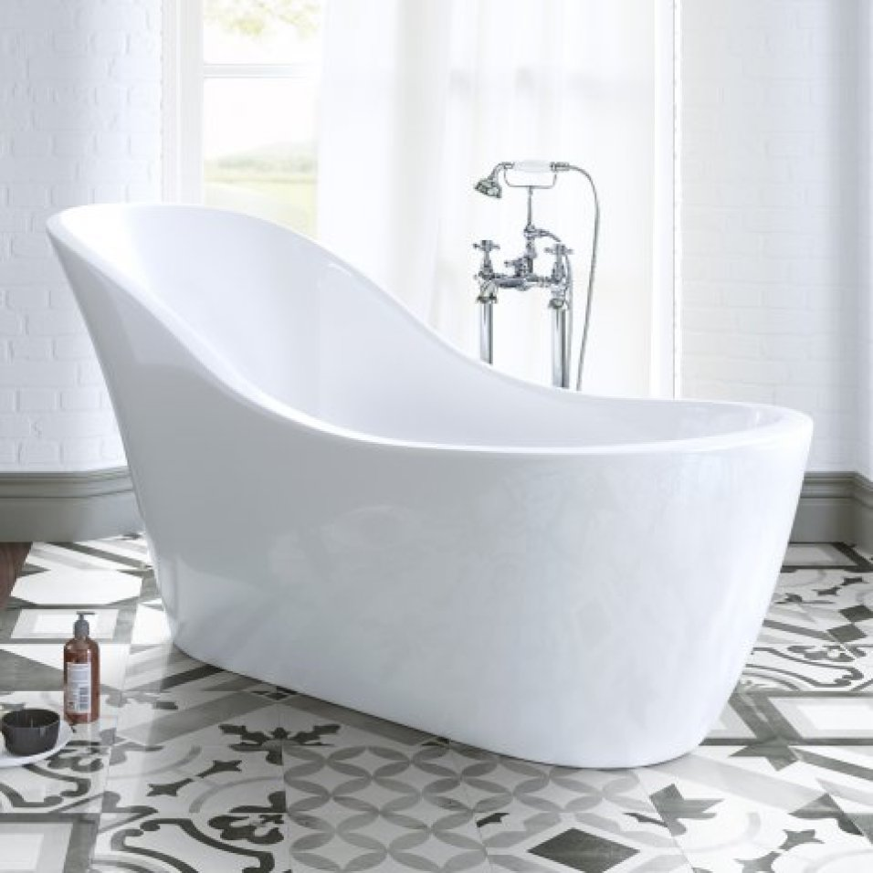 bathroom inspiration: evelyn freestanding bath tub