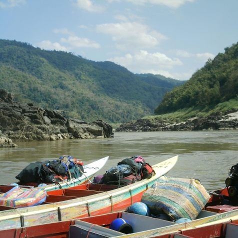 The speedboat / fast boat in Laos