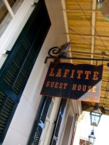 Lafitte Guest House sign