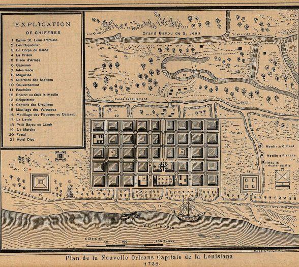 New orleans Plan 1728