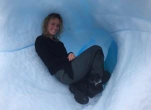 Infinity in a glacial crevice, Antarctica
