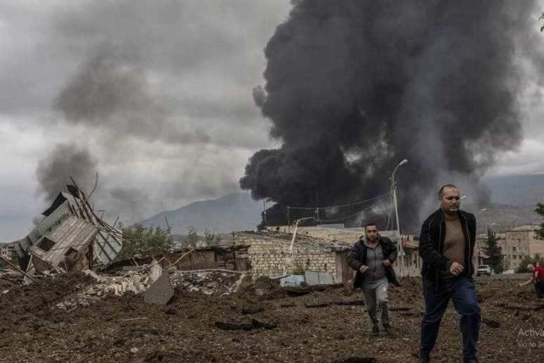 The Bombing of Stepanakert began Sept 27, 2020