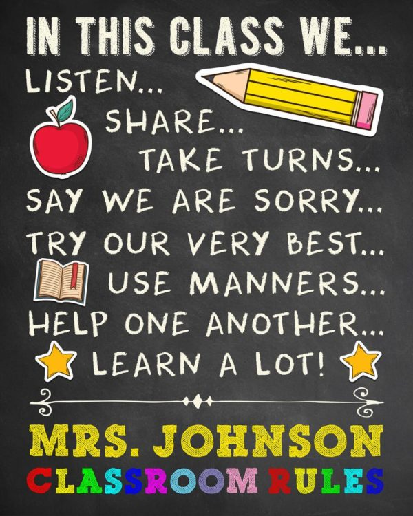 Classroom Teacher Appreciation Poster