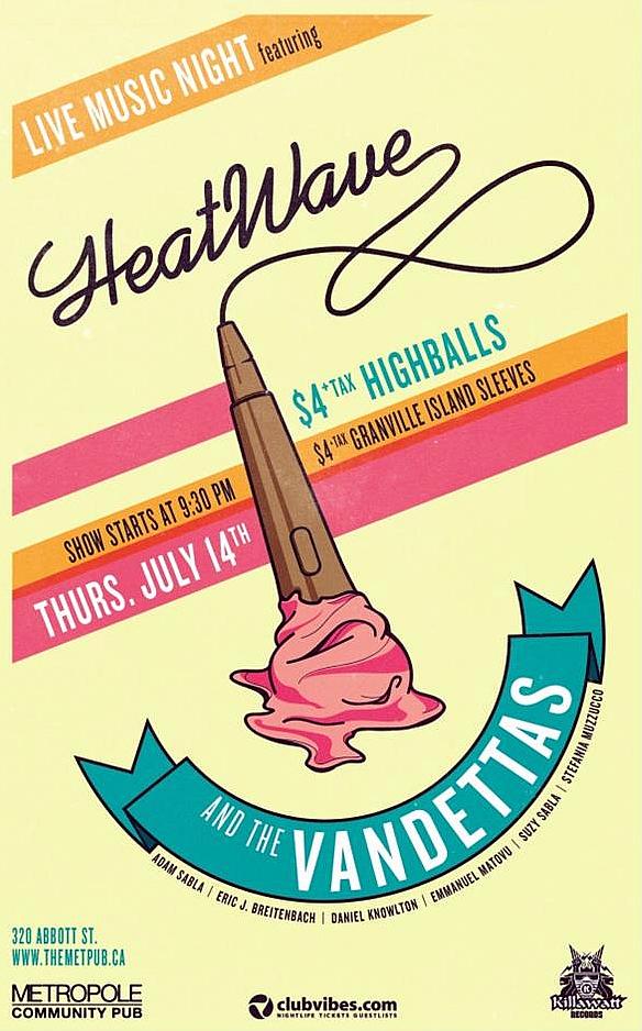 Heatwave and the Vandettas - July 14th, 2011 The Metropole Pub
