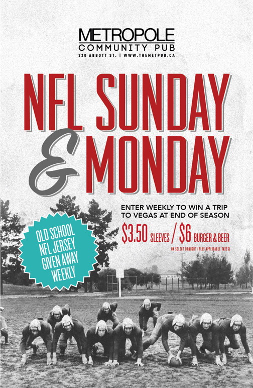 NFL Sunday and Monday at The Met