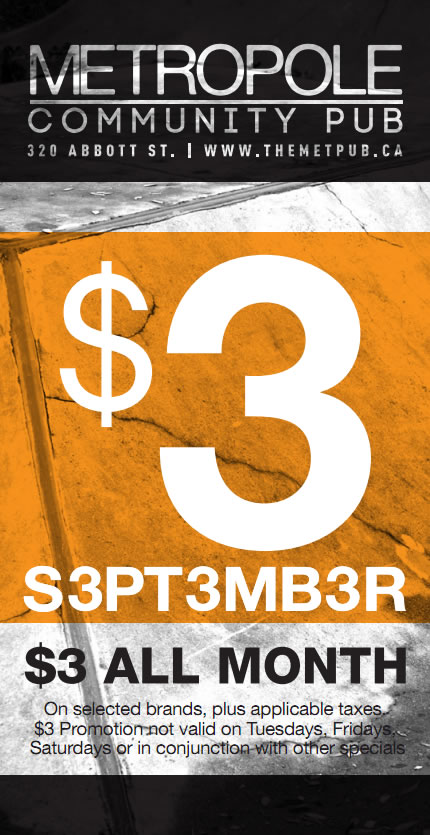 $3 September at The Met!