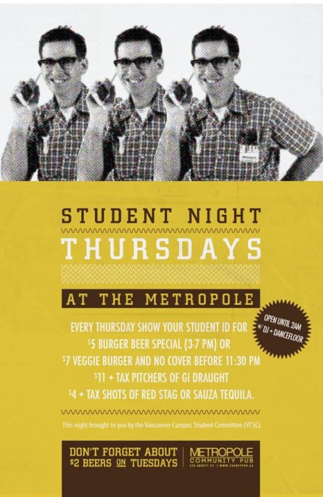Student Night Thursdays