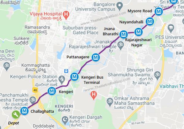 BangaloreMetroKengeriMap2 Kolkata Metro