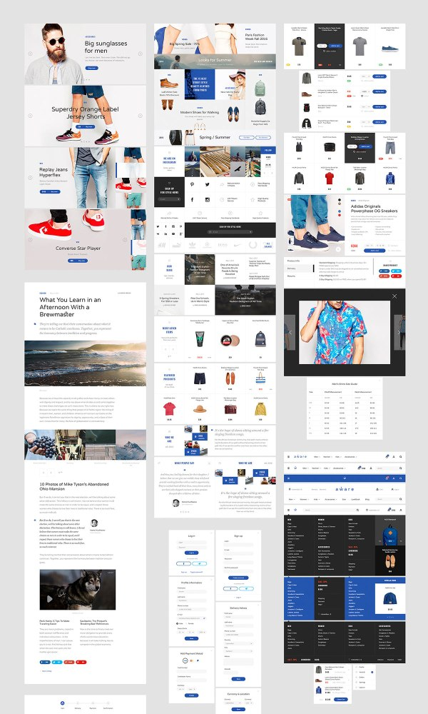 Aware E-commerce Free UI Kit