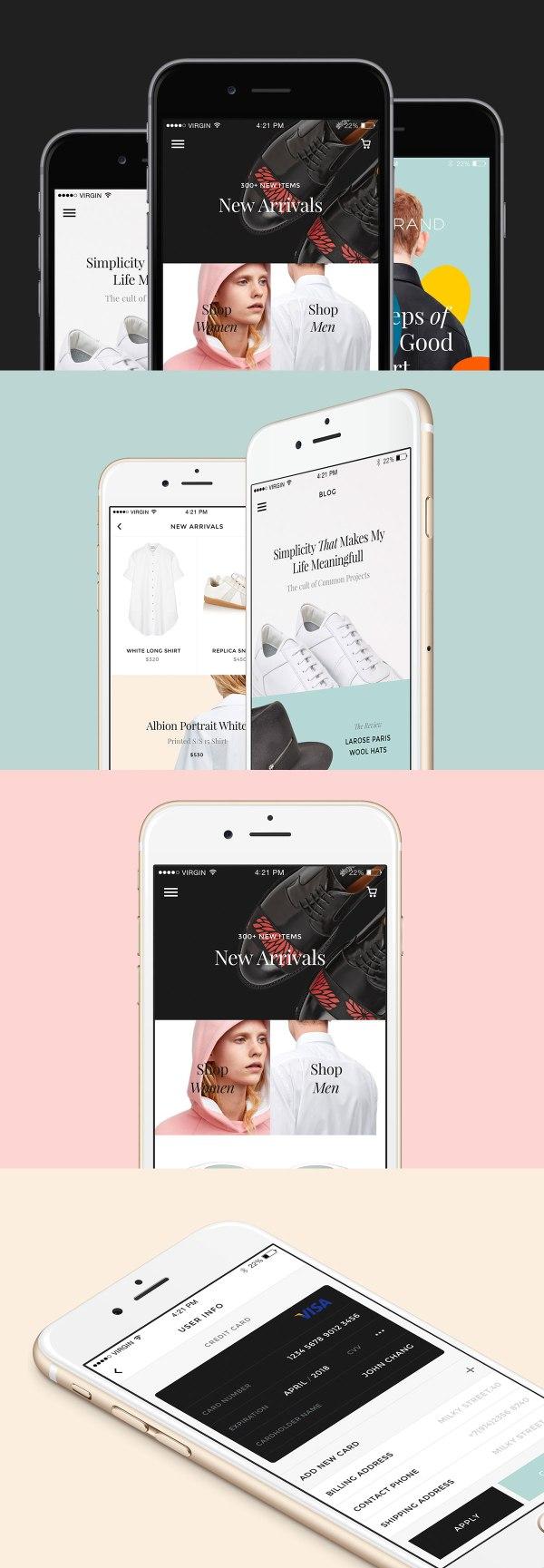 Free UI Kit - Monobrand iOS UI Kit - Sample