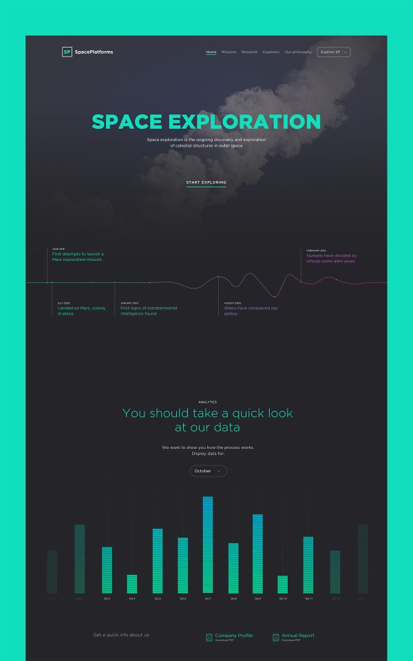 Space Exploration Free PSD Site Template