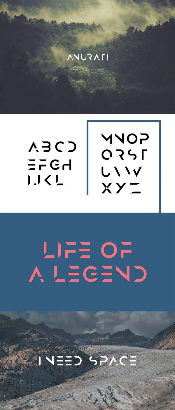 ANURATI - A free futuristic font