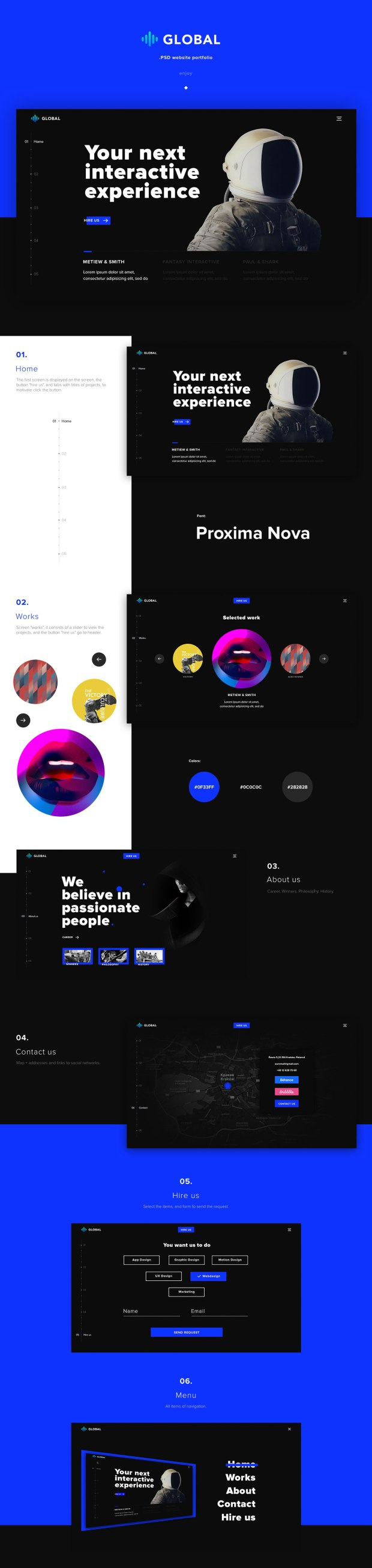 Global - Free PSD and HTML Website Template