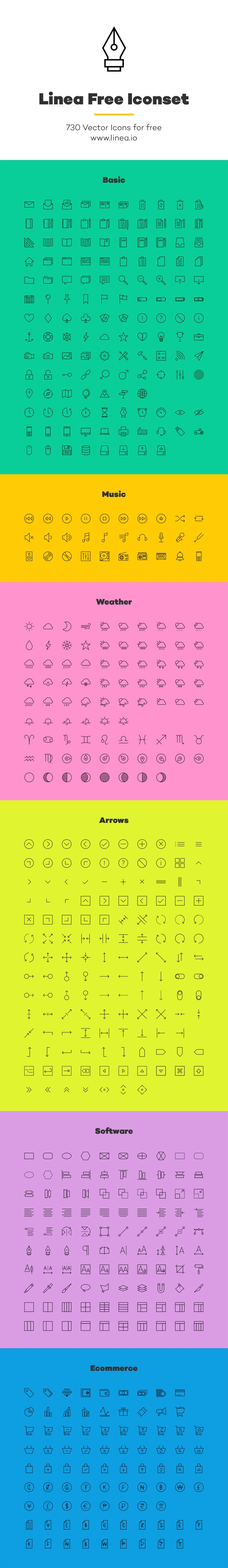 Free Icons - Linea: Free Outline Iconset