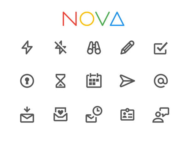 Nova - 350 Material Style Free Icons