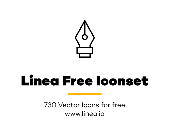 Linea: Free Outline Iconset