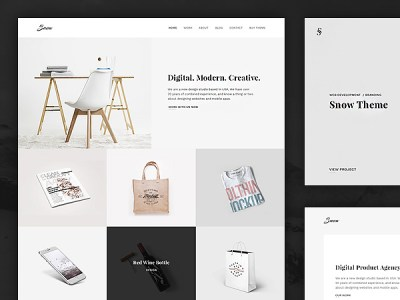 Snow: Free PSD and HTML portfolio template