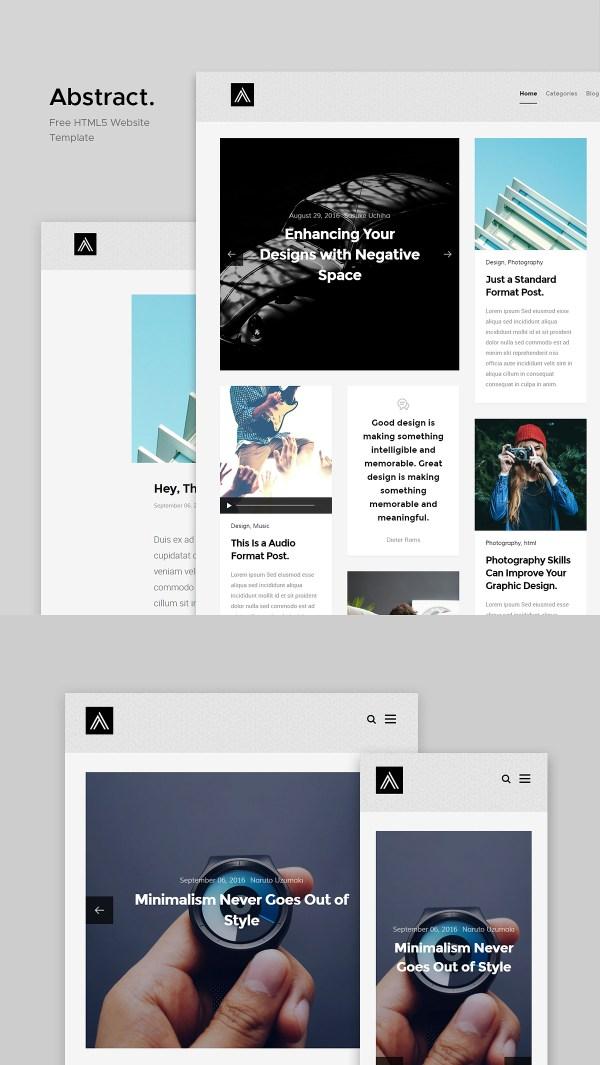 Abstract: Free Masonry Blog Website Template