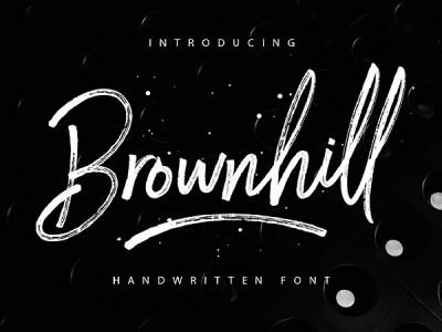 Brownhill Free Script Font