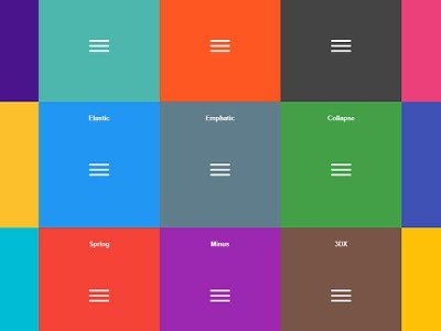 CSS Hamburger Menu Effects