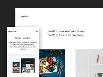Hamilton: A Free WordPress Portfolio Theme for Creatives