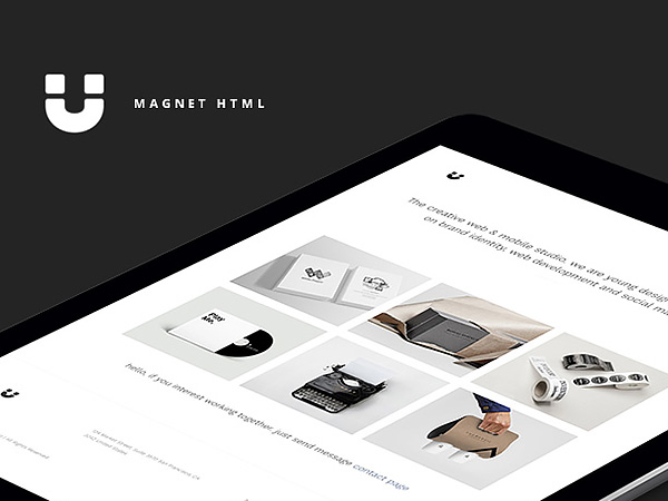Magnet - Free Portfolio Website Template