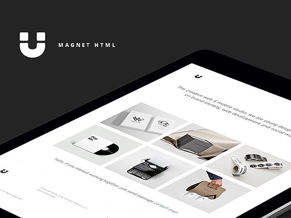 Magnet - Free Portfolio Website Template
