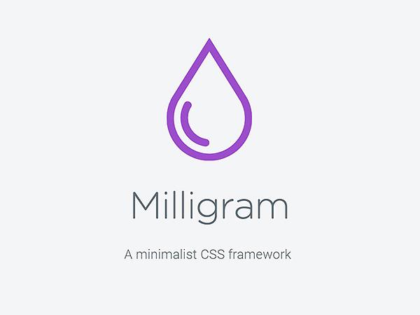Milligram - A minimalist CSS framework