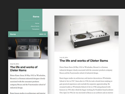 Rams - A Clean and Minimalist Free Wordpress Theme