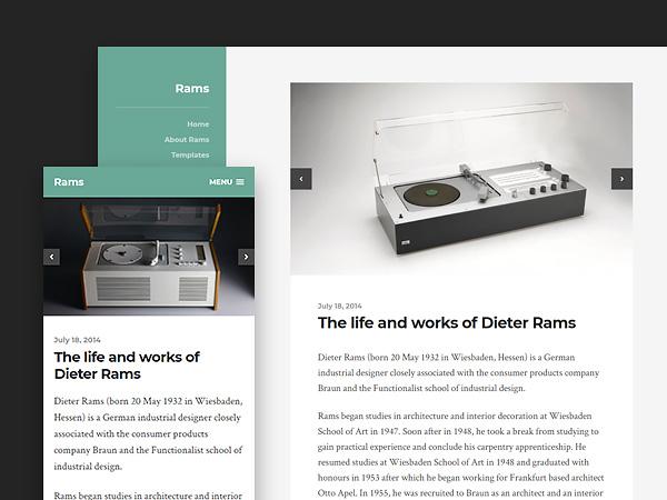 Rams - A Clean and Minimalist Free Wordpress Theme