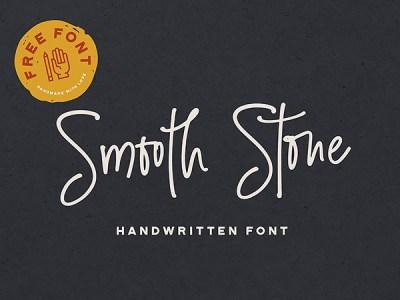 Smooth Stone Free Handwritten Font