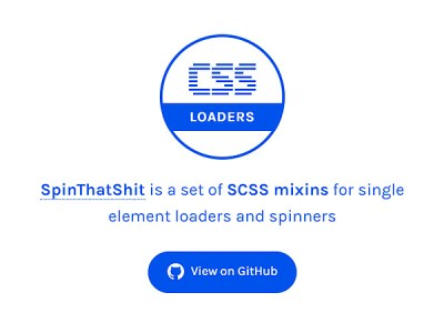 SpinThatShit: SCSS Mixins for Single Element Loaders