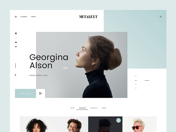 MI Talent - Free PSD Website Template for Agencies