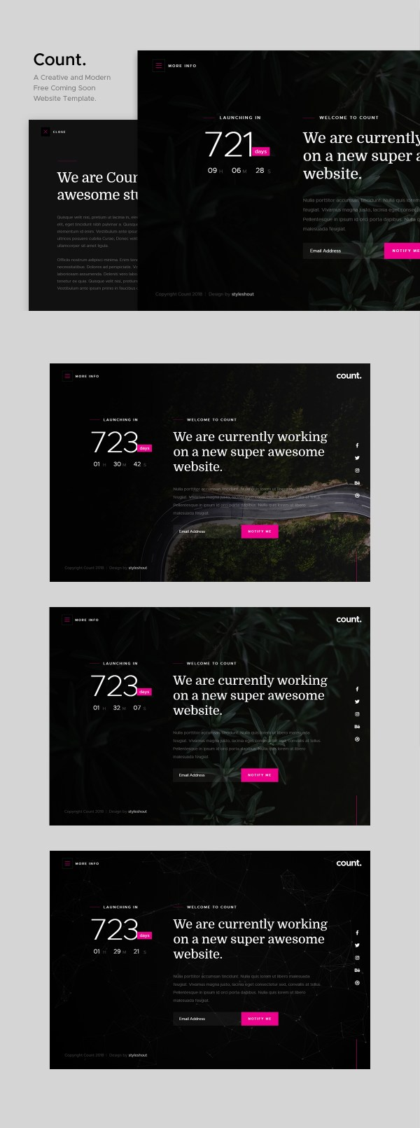 Count: Creative and Modern Coming Soon Website Template