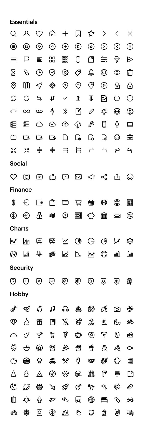 Free 250 Essential Icons