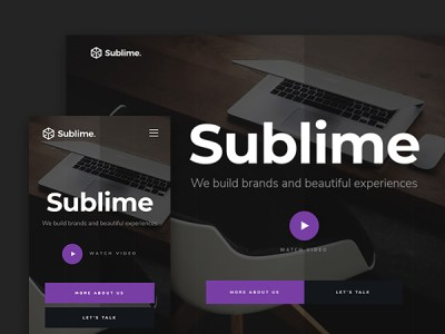 Sublime - free website template for creative agencies
