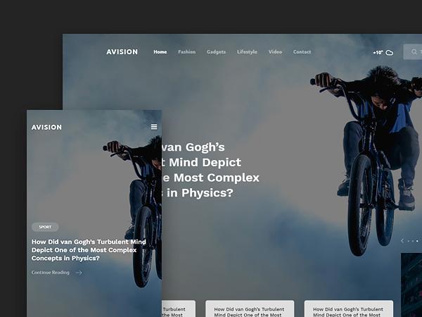 Avision - Free Magazine Website Template