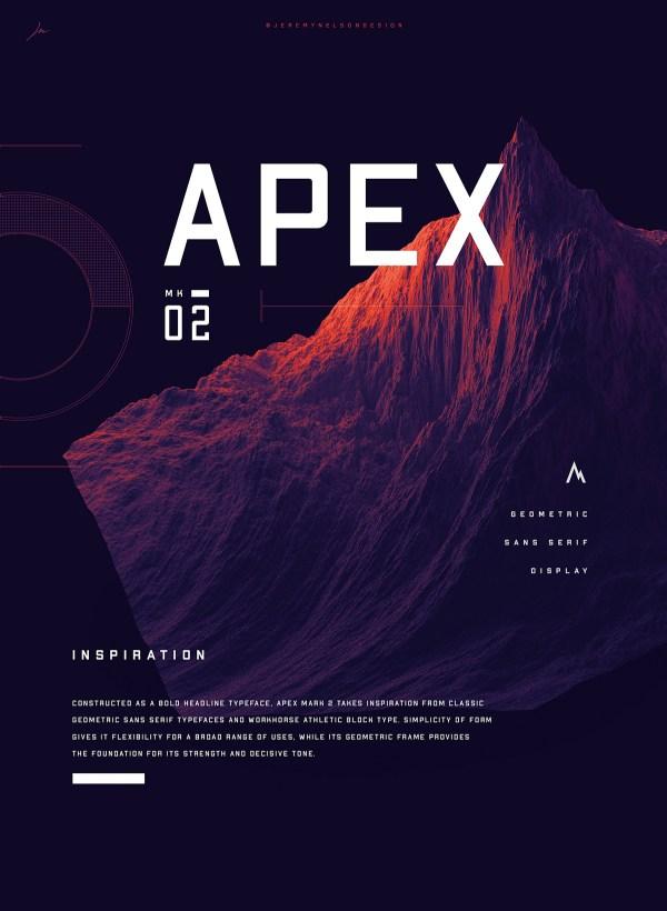Apex MK2 - Free Geometric Sans-serif Display Font - 01