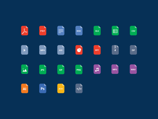 Free File Format Flat Icons - 1