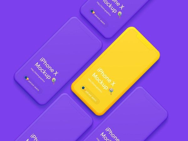Free Simple iPhone X Mockups - 2