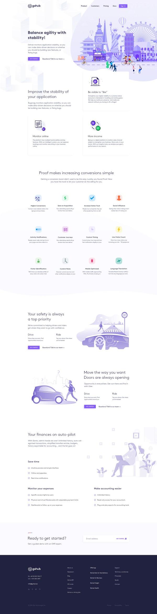 GoHub - Free PSD Landing Page - 2