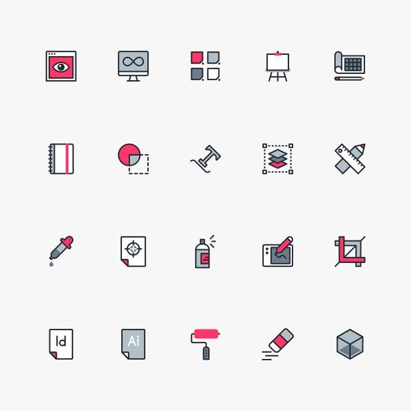 Graphic Design & Freelance Free Icon Pack 01