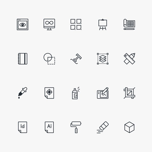Graphic Design & Freelance Free Icon Pack