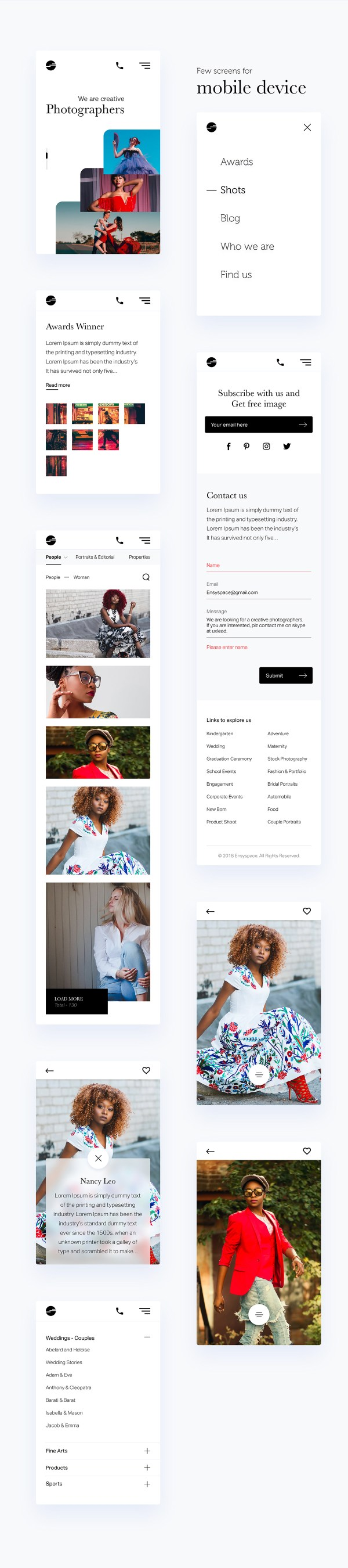 Free Photographer Portfolio Template 02