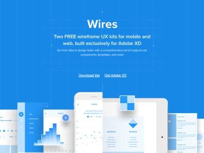 Wires - Free Wireframe Kits for Adobe XD