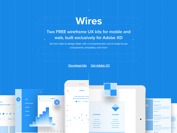 Wires - Free Wireframe Kits for Adobe XD